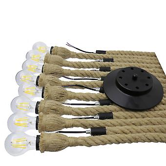 Jandei Vintage Rope Pendentif Lampe 8 Bras E27