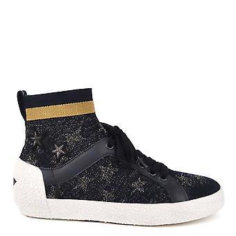 Ash Footwear Ninja Star Navy Knit With Star Print Trainers