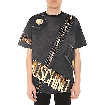 Moschino 070952401888 Männer's schwarze Baumwolle T-shirt