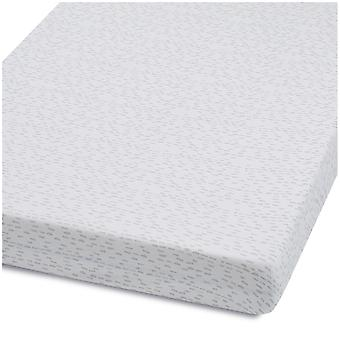 Snuz Cot & Cot Bed Fitted Sheet – Wave Mono Dash
