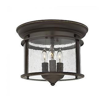 Gentry Ceiling Lamp, Aged Bronze And Glass