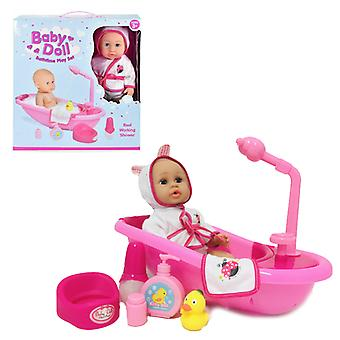 Baby Doll Bathtime Play Set with Bathing & Dolls Accessories