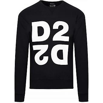 DSQUARED2 Sort D2 Logo Crew Hals Sweatshirt
