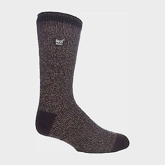Heat Holders Men's Twist Socks Brown
