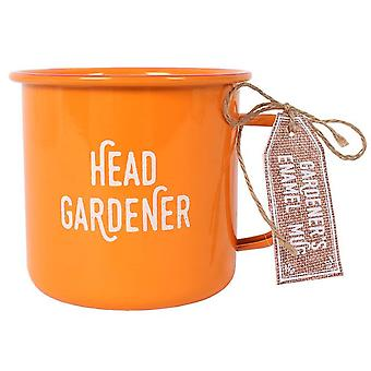 Coś innego głowy ogrodnik szkliwa kubek