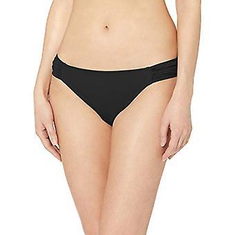 Essentials Naiset's Side Tab Bikini Uimapuku Pohja, Musta, XS