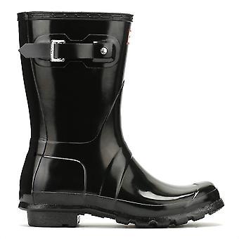 Hunter Original Womens Gloss Short Black Wellington Boots