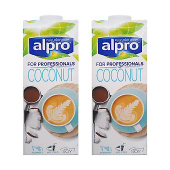 2 x 1 Ltr Alpro Professionals Coconut Soy Milk Drink Lactose & Gluten FREE