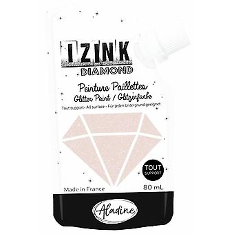 Aladine Izink Diamond Glitter Paint Pastel Gold 80ml.