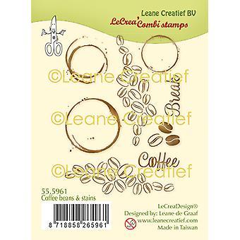 Leane Creatief Кофейные зерна и; Пятна Очистить штамп