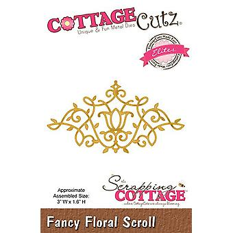 Scrapping CottageCutz Fancy Floral Scroll (Elites) (CCE-023)