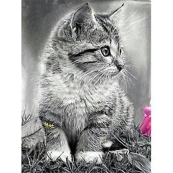 Cat Designs, Full Square Diy Diamond Painting