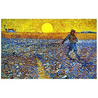Print on canvas - Sower at Sunset - Vincent Van Gogh - Painting on Canvas, Wall Decoration
