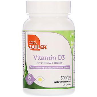 Zahler, Vitamine D3, Advanced D3 Formula, 5.000 IE, 120 Softgels