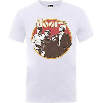 White The Doors Retro Circle Official Tee T-Shirt Unisex