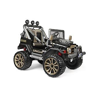 peg perego gaucho xp black/gold 480w 24v electric jeep black/gold