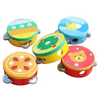 Cartoon Madera tambourine Jingle Percusión Instrumento Musical Niños