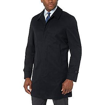 BUTTONED DOWN Men's Water-Repellant Cotton-Blend Car Coat, Black, 40 Short