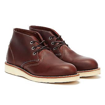 Red Wing Shoes Mens Briar Oil Slick Dark Brown Chukka Boots