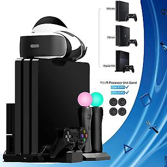 Ps4 Pro Slim / Ps Vr Move Vertical-stand Cooling Fan Controller Charger