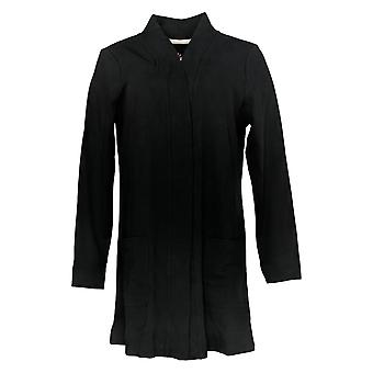Isaac Mizrahi Live! Women's Maglione Aperto Front Knit Cardigan Nero A374242