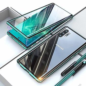 Stuff Certified® Samsung Galaxy A10 Magnetic 360 ° Case with Tempered Glass - Full Body Cover Case + Screen Protector Green