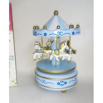 4 Stunning Horses On A Classic Carnival Carousel Music Boxes