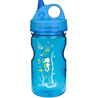 Nalgene Grip n Gulp 350ml Water Bottle - Blue Seahorse