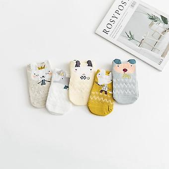 Baby Cute Animal Socks Summer Mesh Short Thin Combed Cotton Socks For Newborns