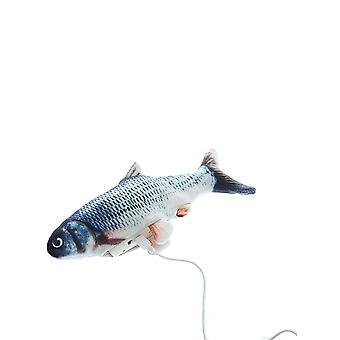لعبة الحيوانات الأليفة التفاعلية الإلكترونية للأسماك للقطط مع كابل شحن USB والتبديل