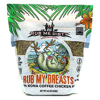 Rub Me Dirty Hawaiian Spices Rub My Breasts 100% Kona Coffee Chicken Rub