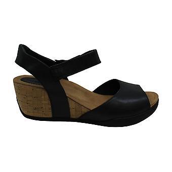 Bussola Kobiety Nice Ankle Strap Sandały klinowe, Natalie Adjustment Niskie obcasy