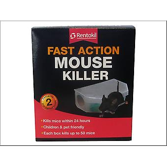 Rentokil Fast Action Mouse Killer x 2 PSF135