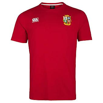 Canterbury British & Irish Lions Rugby Cotton Jersey Tee   Mens   Red   2021