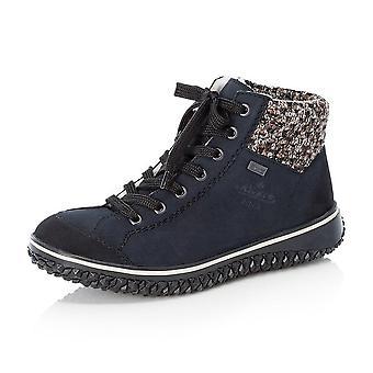 ريكر Z4243-14 كوردولا ريكيرتكس أحذية الشتاء مع طوق محبوك في البحرية