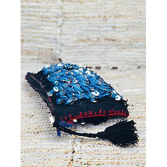 Metallica Wool Lining Boho Clutch