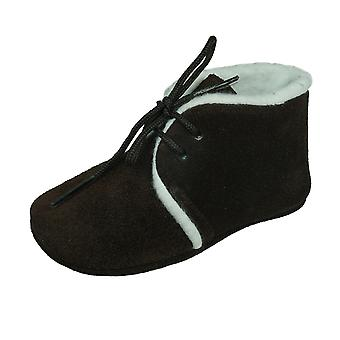 Angela Brown Billy Baby Suede Lace Up Chaussures / Chaussons - Brown