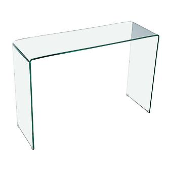 "Mesa consola "" San Remo"" - 110 x 35 x 75 cm - Vidrio curbado transparent"