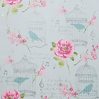 ARTHOUSE ALICE PINK/TEAL WALLPAPER