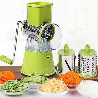 Cuchillo de cocina manual de cocina de repollo de repollo manual de la máquina de rallado de patata rotativa de múltiples funciones