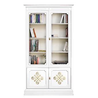 Showcase bookcase with glass doors and gold friezes 'YOU Collection';