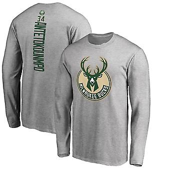 Milwaukee Bucks No.34 Basketball Grå T-shirt Sports Top CXG005