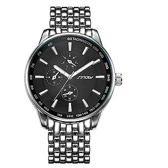 Luxury Fashion Casual Stainless Steel Watches-black Sports Geneva Clock