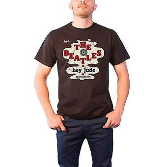 החיפושיות T חולצת היי ג'וד מהפיכה הלהקה לוגו הרשמי Mens שחור
