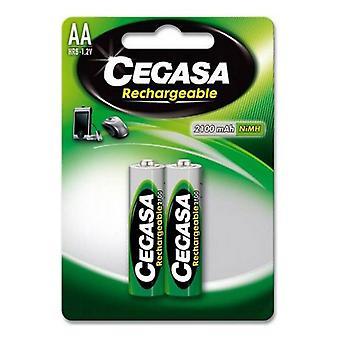 Baterias recarregáveis Cegasa HR6 2100 mAh (2 uds)