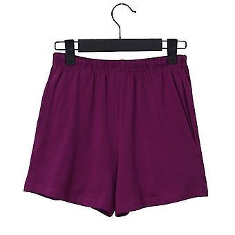 Lose Soft Cotton Spandex Shorts Black Blue Casual Running Summer Women Workout
