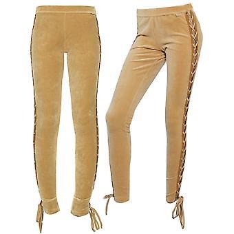 Puma x Rihanna Fenty Womens Velour Lacing Tight Leggings Tan 575742 03 X39B