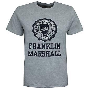 Franklin and Marshall Logo Top Short Sleeve Grey Boys T-Shirt FMS0060 G59