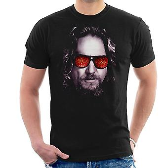 Den stora Lebowski The Dude Face Carpet Shades Män's T-shirt