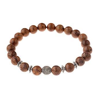 Bracelet de croix de perles de bois normal